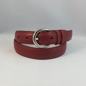 Smooth Leather Belt #8504 Solid Basic Professional